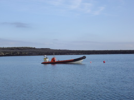 One of the lifeboats.