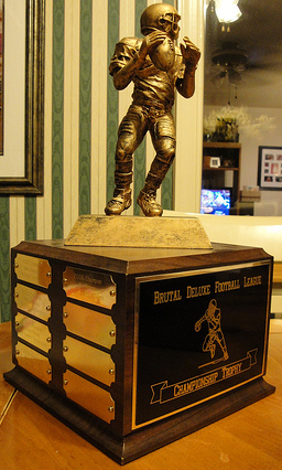 Where do you turn for fantasy football excitement when your league's trophy is out of reach?