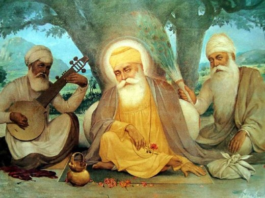 Guru Nanak dev  was the founder of the religion of Sikhism and the first of the ten Sikh Gurus. Guru ji with his two companions Bala And Mardana , travelled across the world to educate and press home the message of Almighty Lord.