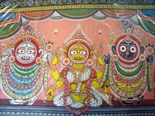 "Jagannath is a deity worshiped primarily by Hindu and Buddhist as part of a triad ""Ratnabedi"" along with his brother Balabhadra and sister Subhadra by his devotees."
