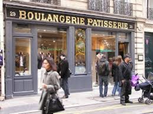 A combination boulangerie and patisserie. This bakery sells both bread and sweets.