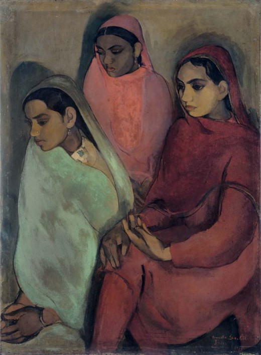 Three Girls by Amrita Shergill