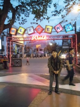 Me in Merdeka Walk (main entrance) :)