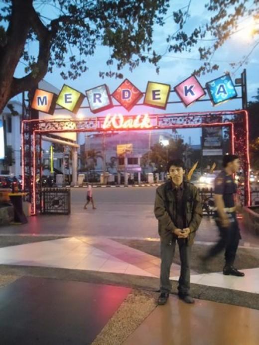 Me in Merdeka Walk (main entrance) :)