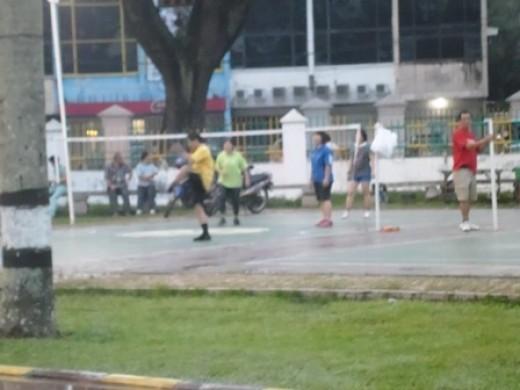 People playing 'Kenchi Kicking' - A closer look
