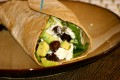 Addictive Avocado, Kalamata, and Goat Cheese Veggie Wrap