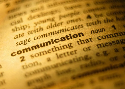 Communication is the key to relating well.