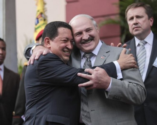 With Hugo Chavez