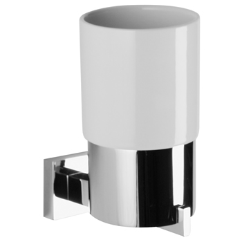 Chrome accessories are the most popular, giving your bathroom a modern look such as the Crosswater Zeya Tumbler Holder.