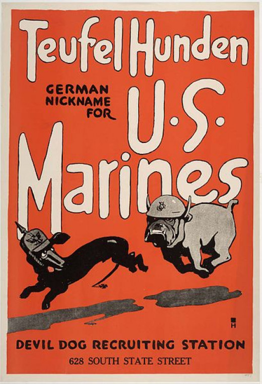 USMC recruiting poster during World War I.