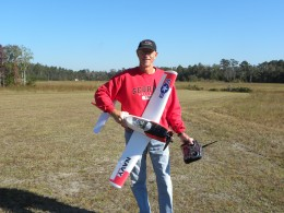 Mike with his new T-28 Trojan Parkzone plane