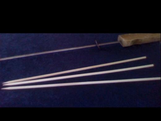Wood & Metal Skewers