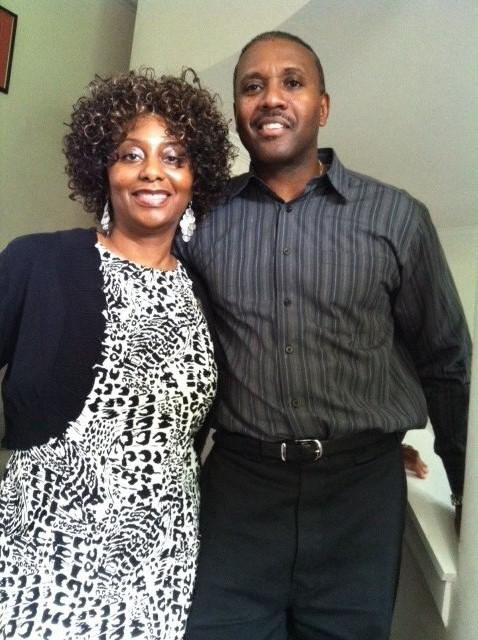 Bonita with husband, William