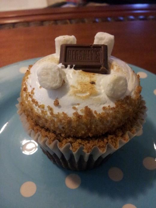 A S'Mores cupcake from Gigi's Cupcakes in Dallas, Texas.