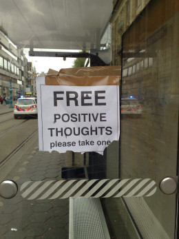Free Positive Thoughts sign