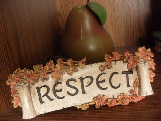 Respect sign.