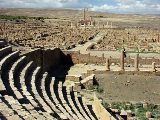 The amphitheatre, Timgad