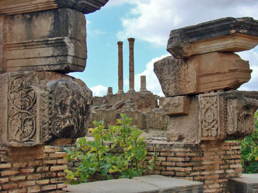 The Capitoline Temple dedicated to Jupiter, Timgad