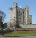Haunted Places - Rochester Castle - imposing Norman keep with resident ghosts including Charles Dickens