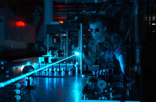 Laser Experiment in an Air Force Lab