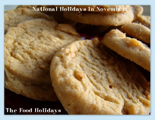 Make some peanut butter cookies for National Peanut Butter Lovers Month.