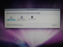Restart from OSX partition