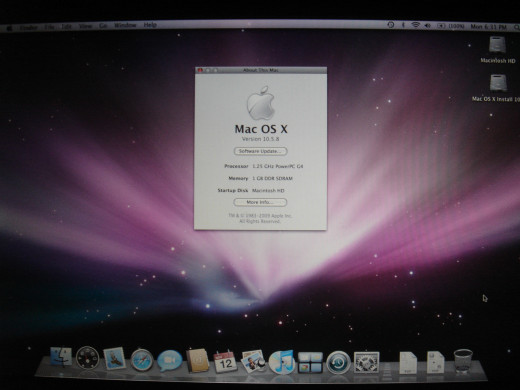 Update OSX to 10.5.8