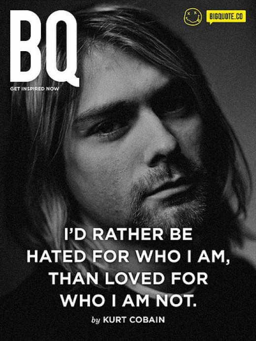 I'd rather be hated for who I am, than loved for who I'm not. from 10pixel Source: flickr.com