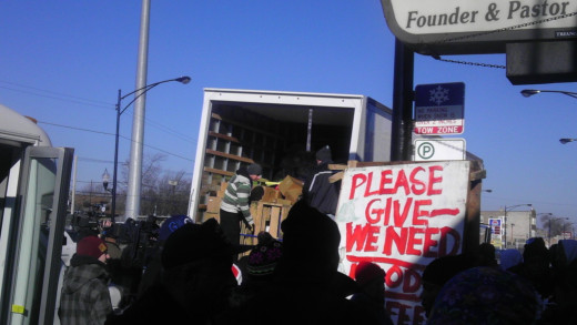 One truck full of donations in 2011