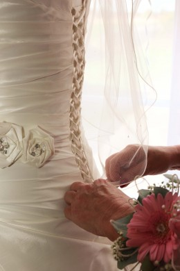 Corsets flatter a bride's figure