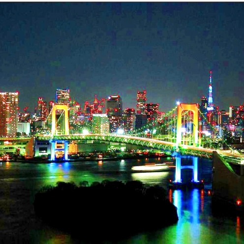 The Rainbrow Bridge: Connecting Odaiba with Tokyo