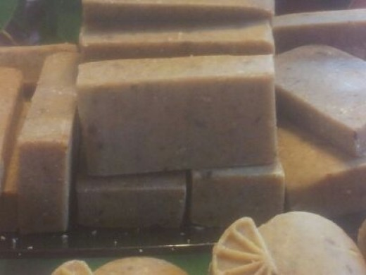 Hand made oatmeal-orange soap by CreativelyCC