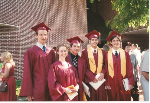Jan (the tallest boy) received a high school diploma from our local school.