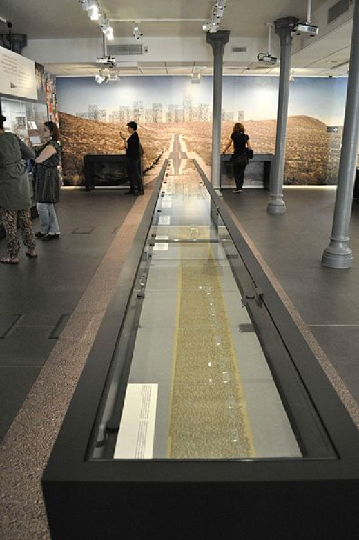 The long scroll manuscript of On The Road, in the Lowell Museum