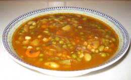 Good home made soup from left overs makes a great meal.