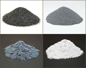 various sizes of silicon carbide grit