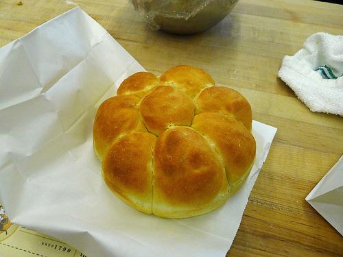 A lovely dinner roll!