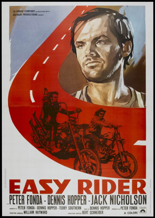 Easy Rider (1969) Italian poster