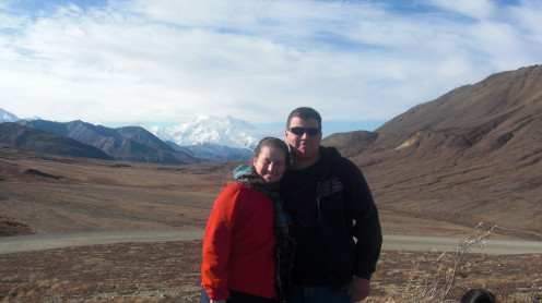 My son and I 36 miles from Denali. We were so glad we chose the Tundra Wilderness Tour