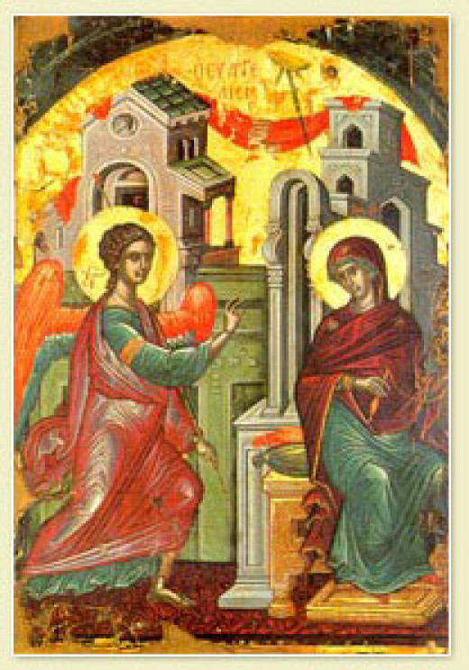 Icon of the Annuciation by Theophanes the Cretan