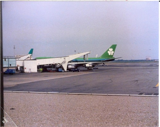 Aer Lingus plane waiting to unload our precious cargo of kids.