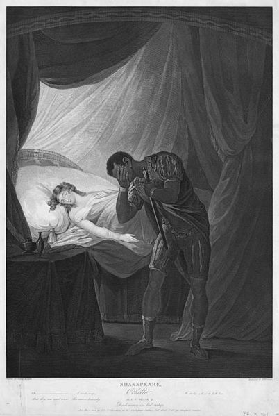 Death of Desdemona by Othello's hand