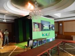 Bogolf Simulator Booth Setup
