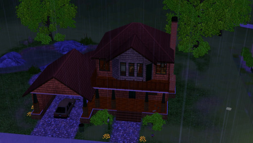 It is raining on The Sims 3 Seasons.