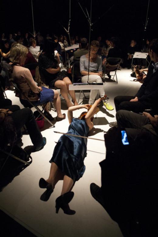 Floor Resistance, 2011 at Hebbel Am Ufer, HAU 3. photo: Conor Clarke. Courtesy the artist