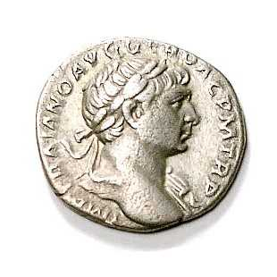Denarius depicting Trajan