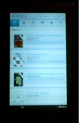 My Library on the Nook