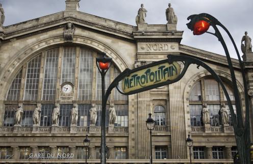 Gare du Nord, and a Metropolitain access, Paris