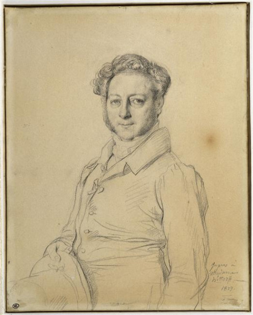 Portrait of the architect Jacques-Ignace Hittorff, 1829, by Ingres