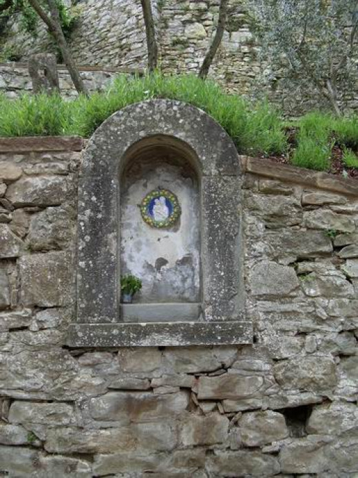 The Grotto at Bramasole - where the older gentleman left flowers every day
